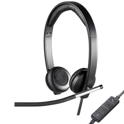 купить Logitech USB Headset H650e Dual, Bi-directional ECM noise-canceling mic Freq. resp: 100 Hz - 10 KHz Sensitivity: -45 dB +/- 3 dB, 2.5m cable, 981-000519 (casti cu microfon/наушники с микрофоном) в Кишинёве