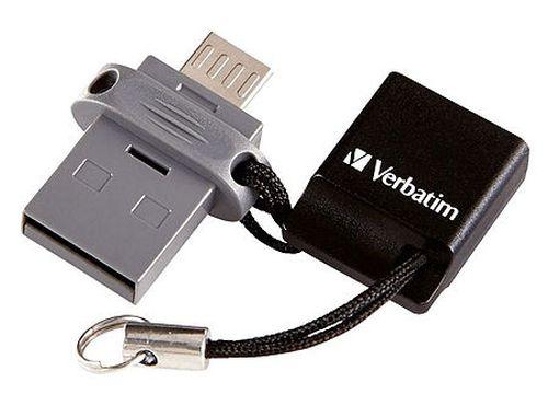 купить 32GB USB Flash Drive Verbatim Dual Drive OTG 32GB, Black, Micro-B/USB 2.0, 49843 (memorie portabila Flash USB/внешний накопитель флеш память USB) в Кишинёве