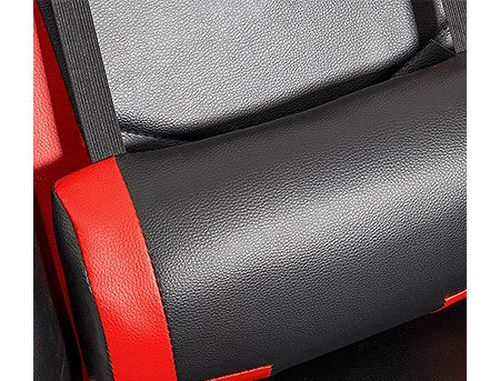 купить Lumi Gaming Chair with Headrest & Lumbar Support CH06-1, Black/Red, 2D Armrest, 350mm Nylon Base, 60mm PU Caster, 100mm Class 3 Gas Lift, Weight Capacity 150 Kg в Кишинёве