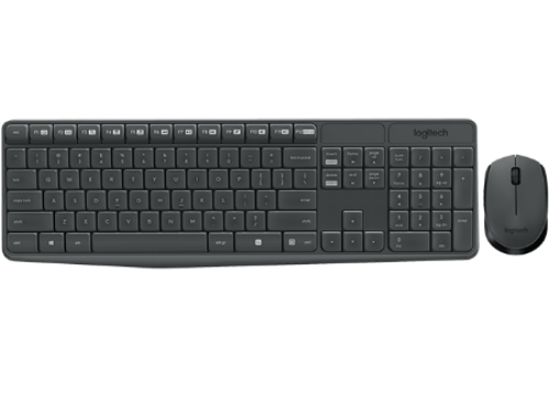купить Logitech MK235 Grey Wireless Combo, Keyboard+Mouse, 920-007948 (set fara fir tastatura+mouse/беспроводной комплект клавиатура+мышь) в Кишинёве