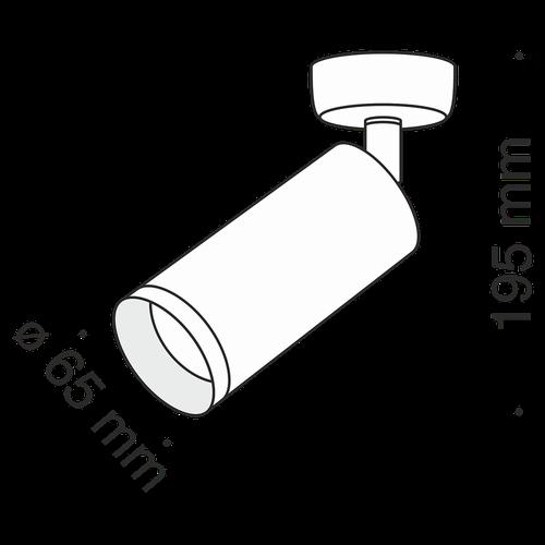 купить Спот накладной C017CW-01RG в Кишинёве