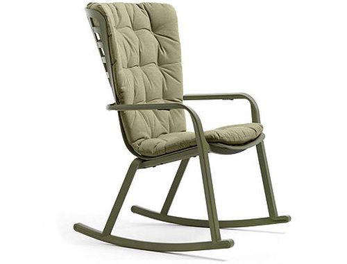 купить Кресло-качалка с подушкой Nardi FOLIO (4 цвета) + Подушка (3 цвета) (Кресло-качалка с подушкой для сада и террасы) в Кишинёве
