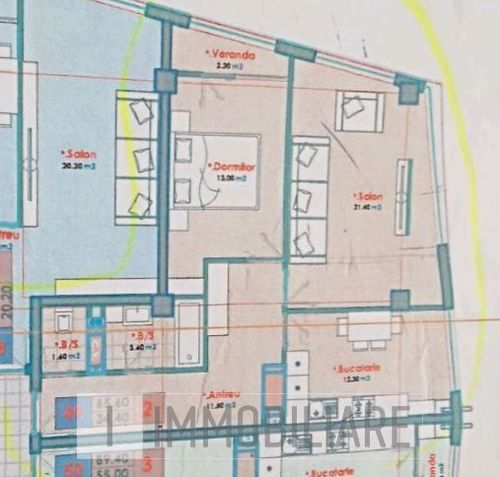 Apartament cu 2 camere, sect. Centru, str. Carierei.