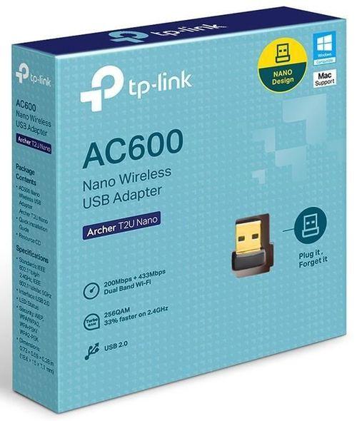 cumpără Adaptor Wi-Fi TP-Link Archer T2U Nano AC600 în Chișinău