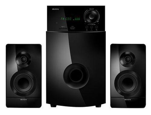 купить Active Speakers SVEN MS-2100 Black, mini music system: VFD display, remote, FM Tuner, USB port, SD slot ( 2.1 surround, RMS 80W, 50W subwoofer, 2x15W Satellites ) в Кишинёве