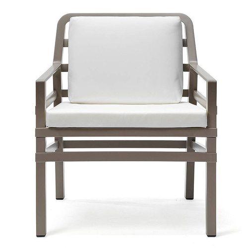 купить Кресло с подушками Nardi ARIA TORTORA bianco 40330.10.155.155 (Кресло с подушками для сада и терас) в Кишинёве