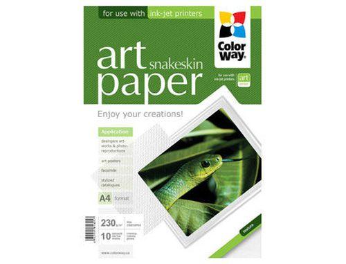купить ColorWay Art Snakeskin Glossy Finne Photo Paper, 230g/m2, A4, 10pack в Кишинёве
