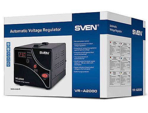 купить SVEN Automatic Voltage Regulator VR-A2000, 2000VA/1200W, Input 140~275V, Output 230V -14/+10%, 1 socket (stabilizator de tensiune/стабилизатор напряжения) в Кишинёве