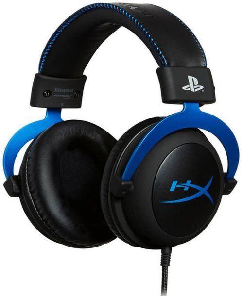 купить Наушники с микрофоном HyperX HX-HSCLS-BL/EM, Cloud PS4, black/blue в Кишинёве