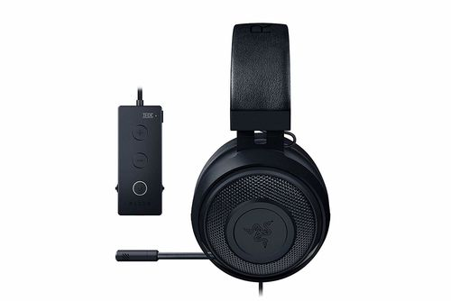 купить RAZER Kraken Tournament Edition Black / Gaming Headset, Retractable Microphone, featuring THX Spatial Audio for 360° sound, 50mm neodymium driver units, Ultra-durable Kevlar™ cable, compatible with devices with jack 3.5 mm, PS4, PC with USB в Кишинёве