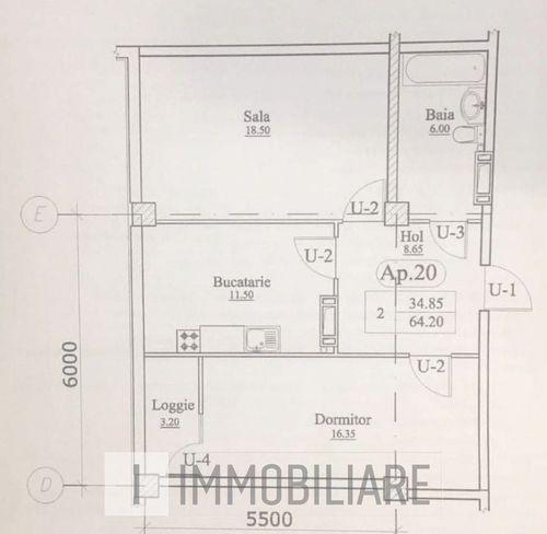 Apartament cu 2 camere, sect. Rîșcani, str. Alecu Russo.