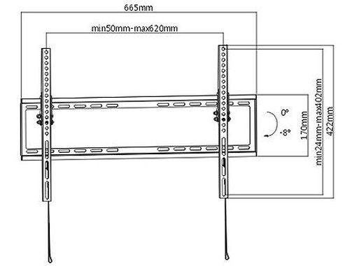 "купить Flat Panel Wall Support Brateck KL22-64T for TV screen size 37"" - 70"", Tilt from +0° to -8°, Super Slim design 20.5mm, VESA 200x200, 400x200, 300x300, 400x400, 600x400, 35Kg (suport de perete pentru TV/крепление подвес настенный кронштейн для телевизора) в Кишинёве"