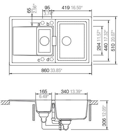 купить Мойка кухонная Schock Cristadur Mono D-150 в Кишинёве