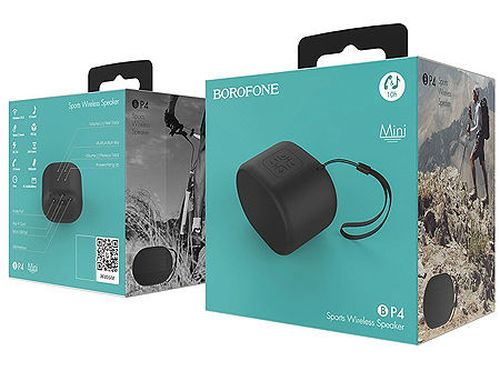 купить Borofone BP4 Enjoy Sports wireless speaker Black (700834), 3W, Bluetooth, 1800mAh, USB/SD input в Кишинёве