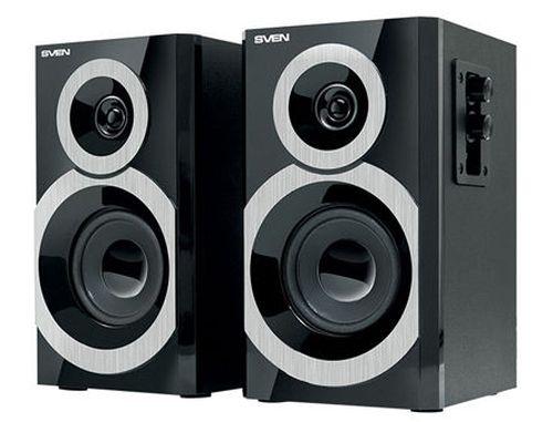 купить Active Speakers SVEN SPS-619 Black, RMS 20W, 2x10W, дерево/lemn (boxe sistem acustic/колонки акустическая сиситема) в Кишинёве