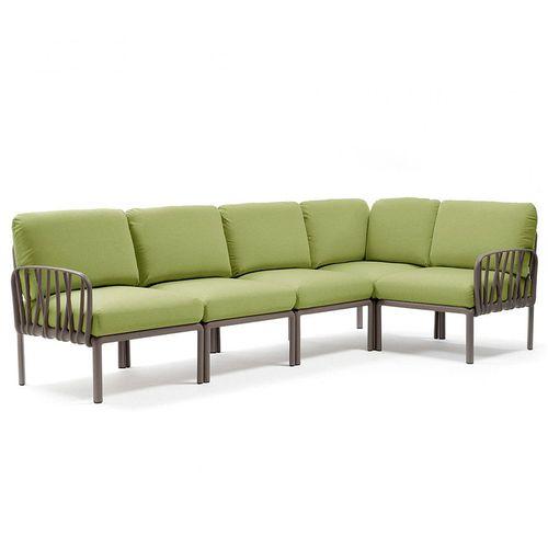 купить Диван с подушками Nardi KOMODO 5 TORTORA-avocado Sunbrella 40370.10.139 (Диван с подушками для сада и терас) в Кишинёве
