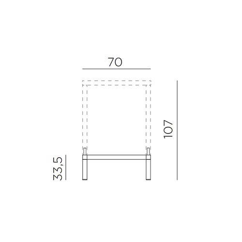 купить Комплект для увеличения высоты стола Nardi KIT CUBE 70 HIGH vern. bianco 47953.00.000 (Комплект для увеличения высоты стола Nardi CUBE 70) в Кишинёве