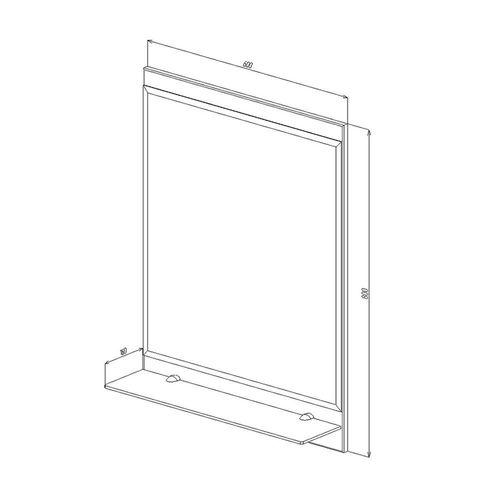 купить Proxima Зеркало белое 600 в Кишинёве