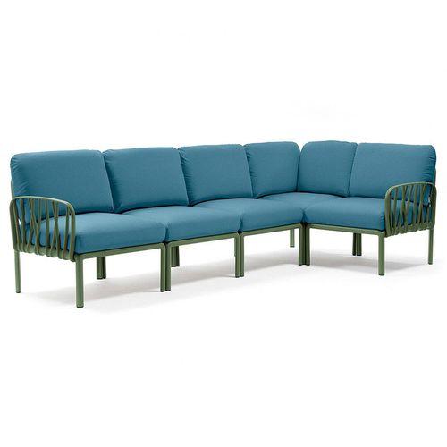 купить Диван с подушками Nardi KOMODO 5 AGAVE-adriatic Sunbrella 40370.16.142 (Диван с подушками для сада и терас) в Кишинёве