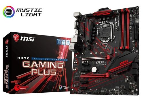 купить MSI H370 GAMING PLUS, Socket 1151, Intel® H370 (8th Gen CPU), Dual 4xDDR4-2666, 2xPCIe X16, CPU Intel graphics, DVI, DP, 5xSATA3, RAID, 1xM.2 slot, 4xPCIe X1, ALC892 7.1ch HDA, GbE LAN, 2xUSB3.1 Gen 2 (Type-C & Type-A), 6xUSB3.1, Mystic Light, ATX в Кишинёве