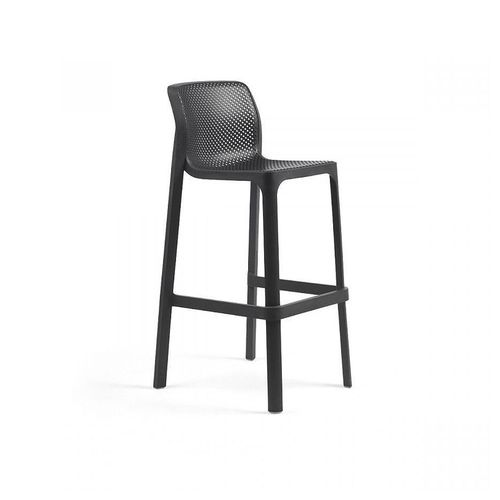 купить Стул барный Nardi NET STOOL ANTRACITE 40355.02.000 (Стул барный для сада и террасы) в Кишинёве