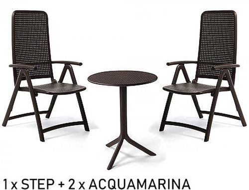 купить Set mobila de terasa masa Nardi STEP + 2 fotolii ACQUAMARINA в Кишинёве