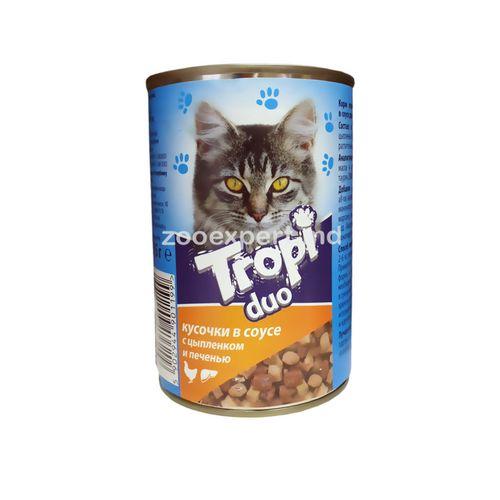 купить Tropi Duo в соусе цыпленок и печень 415  gr в Кишинёве