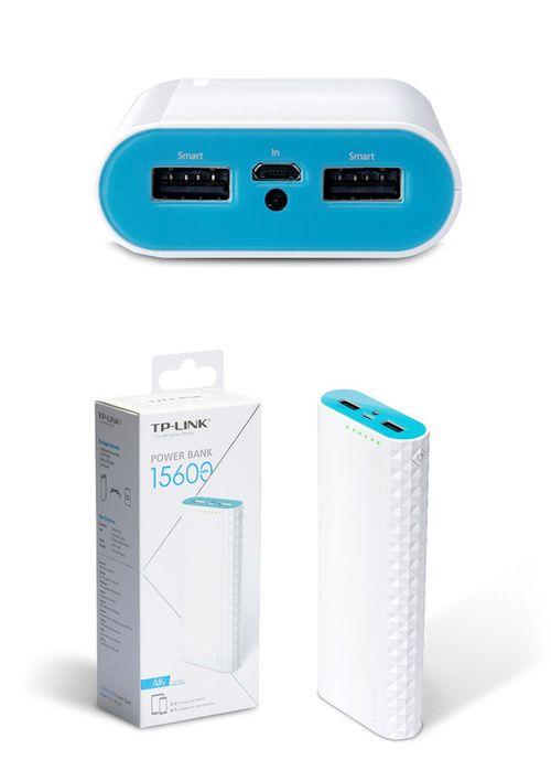 cumpără 15600mAh Power Bank - TP-Link TL-PB15600, White, Power Capacity: 15600mAh, 2 x 5V/2.4A (max 5V/3A), 6in1 safety features, Smart charging, Maximizing battery performance, LED Flash în Chișinău