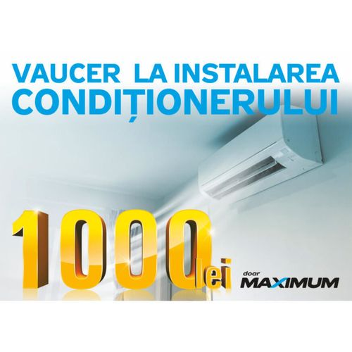 cumpără Certificat - cadou Maximum VOUCHER_1000 Reducere la instalarea aparatului de aer condiționat în Chișinău