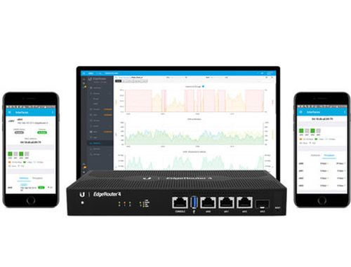купить Ubiquiti EdgeRouter 4 ER-4, CPU 4-Core 1 GHz, 1GB, 3xGigabit RJ45 routing ports, 1xGigabit SFP port, 3.4 million packets per second for 64-byte packets, 4 Gbps for packets 128 bytes or larger in size, Silent, fanless operation, Compact, durable metal case в Кишинёве