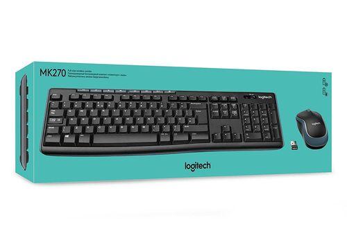 купить Keyboard & Mouse Logitech Wireless Combo MK270, Multimedia, USB, Retail в Кишинёве