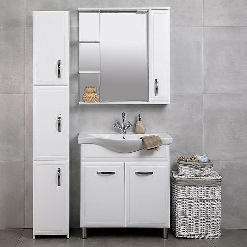 купить Allure Шкаф-зеркало белое 800 R в Кишинёве