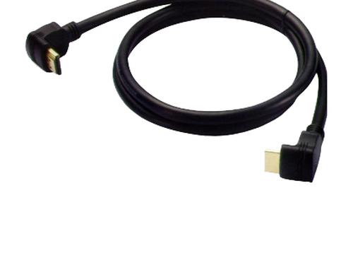 купить Cable Brateck HM8035-3M Right angle HDMI High Speed 19M-19M V1.4a, gold plated, 3m (cablu HDMI/кабель HDMI) в Кишинёве