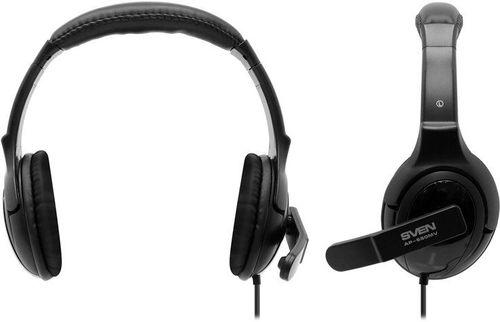cumpără SVEN AP-690MV, Headphones with microphone, Volume control, SVEN PNC passive noise cancelling system, 2.2m, Black în Chișinău