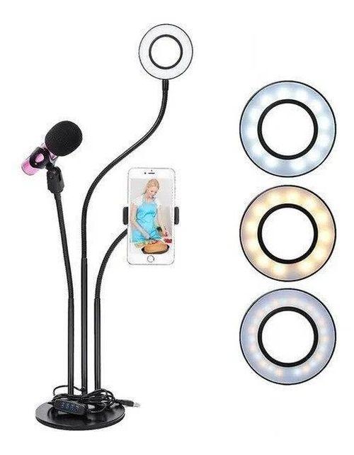 купить Кольцевая лампа Yikoo PR-38082 Blogger Kit 3 in 1 в Кишинёве