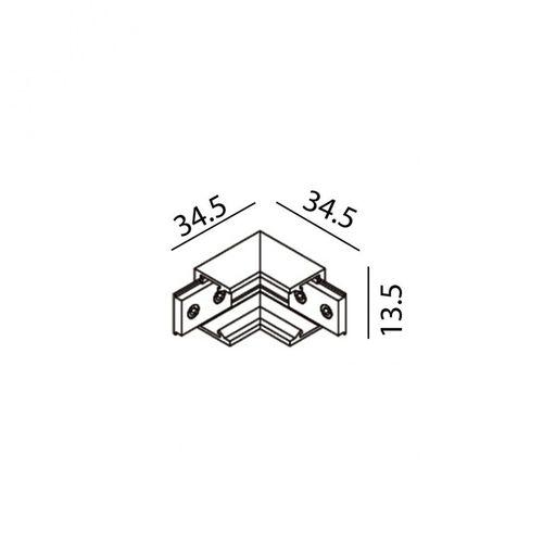 купить Соединитель накладной угловой внутренний MINI_LINE42 CORNER S IN 07.S90IN.BK в Кишинёве