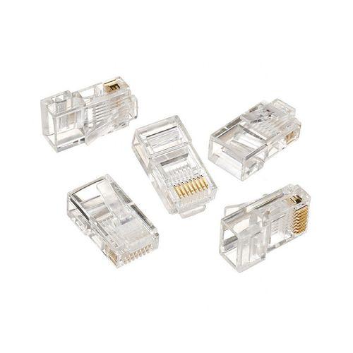 """купить RJ45 Gembird Modular Plug  LC-8P8C-001/100, Modular plug 8P8C for solid LAN cable, 30u"""" gold plated, 100 pcs/bag в Кишинёве"""