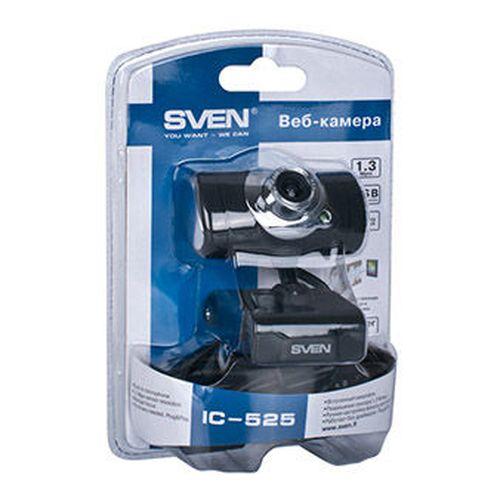 cumpără Camera SVEN IC-525, Microphone, 0.3Mpixel - 8Mpixel, 5G glass lens, hinge for easy camera rotation at any angle, UVC, USB2.0, Black în Chișinău