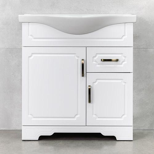купить Classic One Шкаф белый с умывальником Alba 800 в Кишинёве