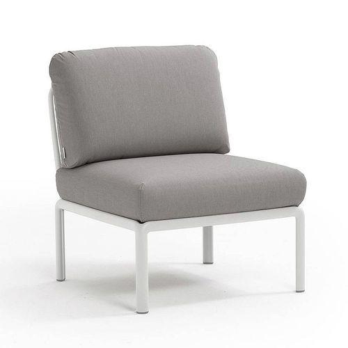 купить Кресло модуль центральный с подушками Nardi KOMODO ELEMENTO CENTRALE BIANCO-grigio 40373.00.163 в Кишинёве