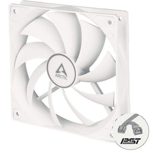 купить Case/CPU FAN Arctic P12 PWM PST, Pressure-optimised Fan with PWM PST, White/White, 120x120x25 mm, 4-Pin-Connector + 4-Pin-Socket, 200-1800rpm, Noise 0.3 Sone, 56.3 CFM (95.7 m3/h) (ACFAN00170A) в Кишинёве