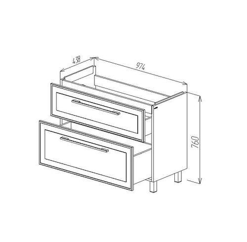 купить Porto Шкаф белый структурный под умывальник Stance 980 в Кишинёве