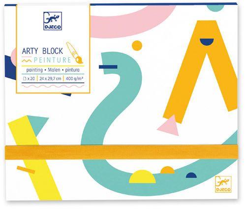 cumpără Hârtie pentru pictură în acuarelă, Arty Block, DJECO în Chișinău