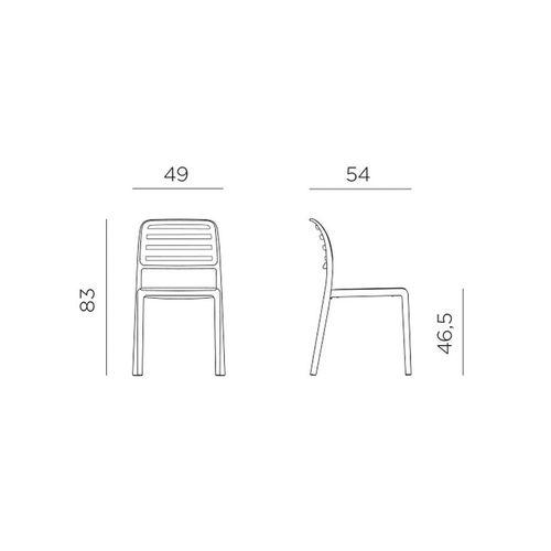 купить Стул Nardi COSTA BISTROT AGAVE 40245.16.000.06 (Стул для сада и террасы) в Кишинёве