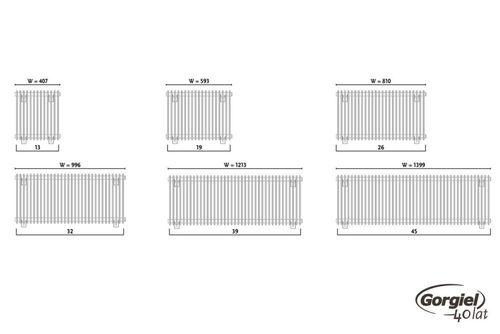 купить Дизайнерский радиатор GORGIEL IBERIS H AIB H 45/40 в Кишинёве