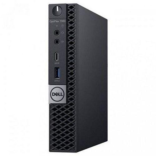 купить DELL Optiplex 7060 MFF Intel® Core® i7-8700Т (6 Cores/12MB/12T/up to 4.0GHz/35W), 16GB 1X16GB DDR4 DDR4, M.2 256GB SSD, Intel UHD 630, WiFi 802.11ac + BT, TPM, no ODD, 90W AC Adapter, USB mouse, USB KB216-B, Win10Pro, Black в Кишинёве