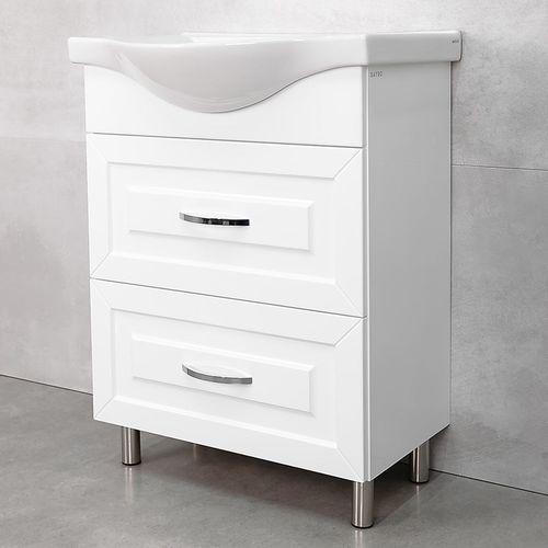 купить Aspiro Шкаф белый хром с умывальником Alba 650 в Кишинёве