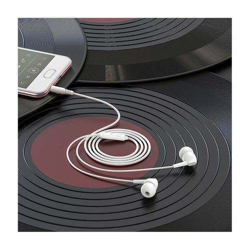 купить Borofone BM51 white (728890) Hoary universal earphones with microphone, Speaker outer diameter 10MM, cable length 1.2m, Microphone в Кишинёве