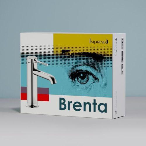BRENTA смеситель для умывальника, скрытый монтаж, хром, 35 мм  (ванная комната)