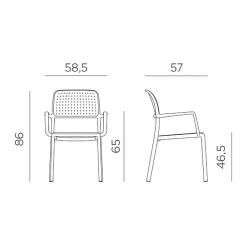 купить Кресло Nardi BORA ANTRACITE 40242.02.000.06 (Кресло для сада и террасы) в Кишинёве
